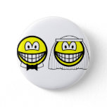 Married smile bride and groom  buttons