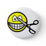 Cut smile scissors  buttons