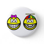 Brother and sister smile   buttons