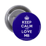 [Crown] keep calm and love mb  Buttons