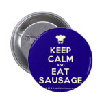 [Chef hat] keep calm and eat sausage  Buttons