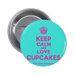 [Cupcake] keep calm and love cupcakes  Buttons