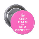 [Crown] keep calm and be a princess  Buttons