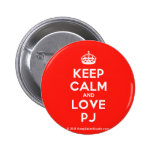[Crown] keep calm and love pj  Buttons
