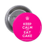 [Cupcake] keep calm and eat cake  Buttons