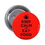 [Cutlery and plate] keep calm and eat food  Buttons