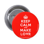 [Crown] keep calm and make lovr  Buttons