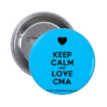 [Love heart] keep calm and love cma  Buttons