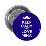 [Moustache] keep calm and love peha  Buttons