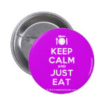 [Cutlery and plate] keep calm and just eat  Buttons