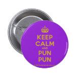 [Crown] keep calm and pun pun  Buttons