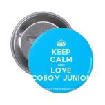 [Crown] keep calm and love coboy junior  Buttons