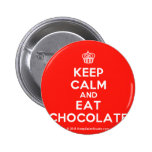 [Cupcake] keep calm and eat chocolate  Buttons