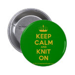 [Knitting crown] keep calm and knit on  Buttons