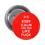 [UK Flag] keep calm and run like fuck  Buttons