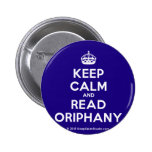 [Crown] keep calm and read oriphany  Buttons