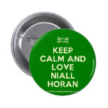 [UK Flag] keep calm and love niall horan  Buttons