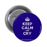 [Crown] keep calm and cry  Buttons