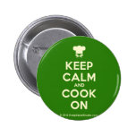 [Chef hat] keep calm and cook on  Buttons