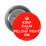 [Crown] keep calm and pillow fight on  Buttons