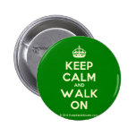 [Crown] keep calm and walk on  Buttons