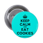 [Crown] keep calm and eat cookies  Buttons