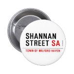 Shannan Street  Buttons