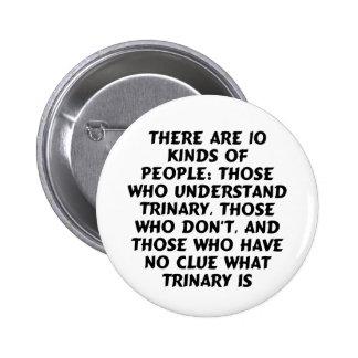 Buttons2) Hay 10 clases… trinary (estándar) Pin