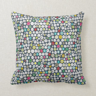 buttons and bees slate pillow