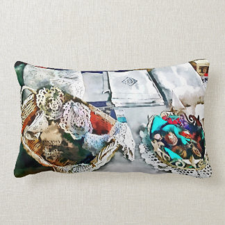 Buttons and Lace Pillows