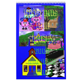 Buttons And Lacey Good Manners Bears Wall Calendars