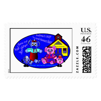 Buttons and Lacey s Logo Postage
