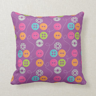 Buttons and Thread Sewing Seamstress Design Pillows