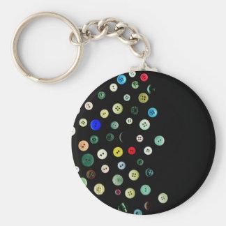 buttons basic round button keychain