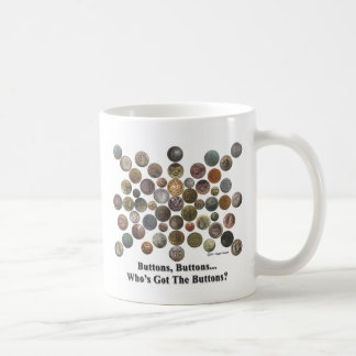 Buttons, buttons classic white coffee mug