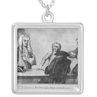 Buttons Coffee House, 1730 Square Pendant Necklace