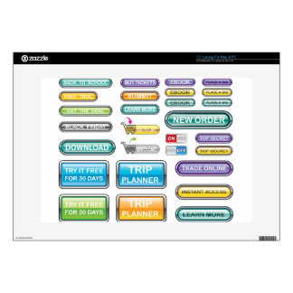 """Buttons Collection Vectors Decal For 15"""" Laptop"""