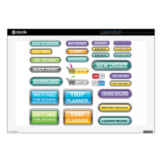 Buttons Collection Vectors Laptop Skin