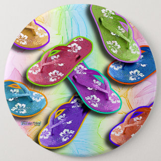 Buttons - FLIP FLOPS Pop Art