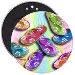 Buttons - FLIP FLOPS Pop Art