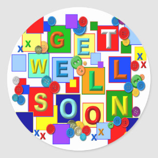 BUTTONS Get Well Stickers