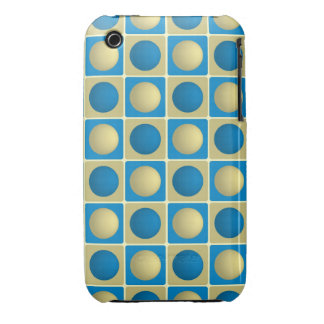 Buttons in Squares Blue iPhone 3G 3Gs Case iPhone 3 Cases