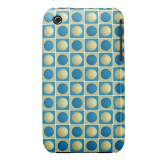 Buttons in Squares Blue iPhone 3G 3Gs Case iPhone 3 Case