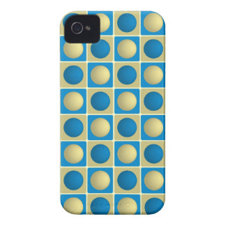 Buttons in Squares Blue iPhone 4 Case
