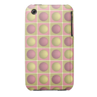 Buttons in Squares Pink iPhone 3G 3Gs Case Case-Mate iPhone 3 Cases