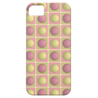 Buttons in Squares Pink iPhone 5 Case