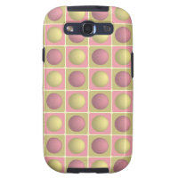 Buttons in Squares Pink Samsung Galaxy S3 Case