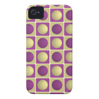 Buttons in Squares Purple Blackberry Bold Case
