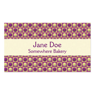 Buttons in Squares Purple Business Card