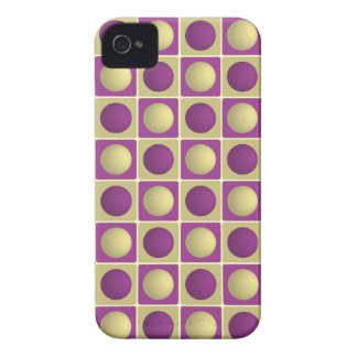 Buttons in Squares Purple iPhone 4 Case